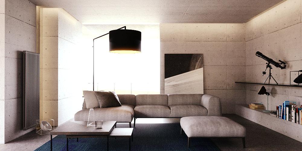 Wn trza zehnder projektowanie wn trz krak w kobe studio for Beton salon